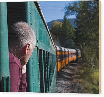Riding The Train 8x10 Wood Print