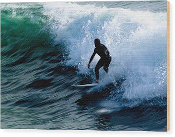 Riding The Waves Wood Print by Magdalena Green