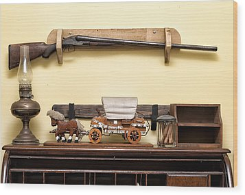 Wood Print featuring the photograph Rifle by Linda Constant