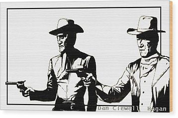 Right Handed Justice Wood Print by Dan Clewell