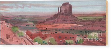Right Mitten Panorama Wood Print by Donald Maier