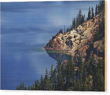 Right Side Of Crater Lake Oregon Wood Print