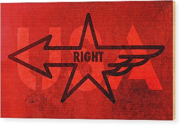 Right Wing Wood Print by Paul Gaj