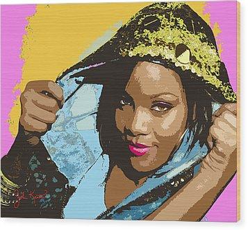 Rihanna Wood Print by John Keaton