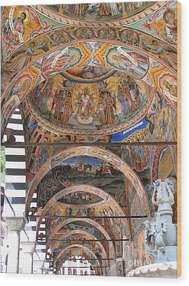 Rila Monastery In Bulgaria Wood Print