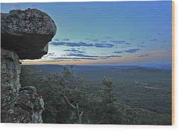 Wood Print featuring the photograph Rim Daybreak by Gary Kaylor