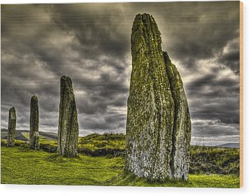 Ring Of Brodgar Orkney Wood Print