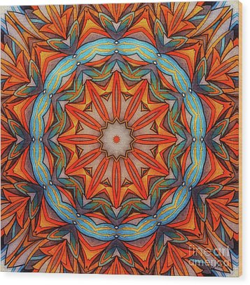 Ring Of Fire Wood Print by Mo T
