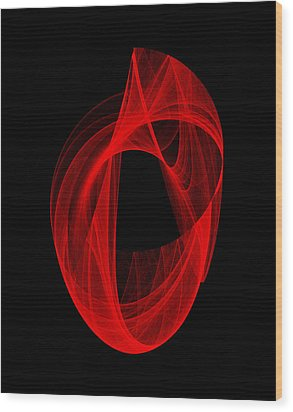 Ring Unraveling I Wood Print by Robert Krawczyk
