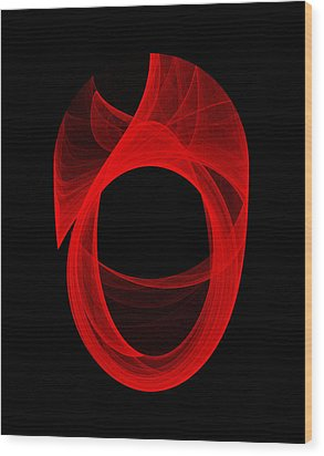 Ring Unraveling II Wood Print by Robert Krawczyk