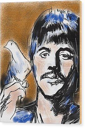 Ringo Wood Print by Russell Pierce