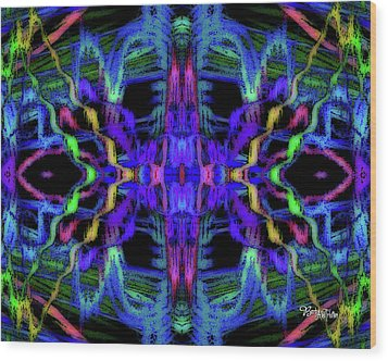 Rings Of Fire Dopamine #156 Wood Print by Barbara Tristan