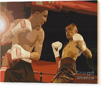 Ringside Wood Print by David Lee Thompson