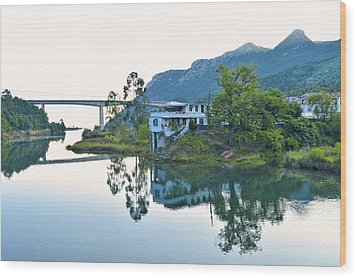 Rio Aguera Reflection  Wood Print by Marek Stepan