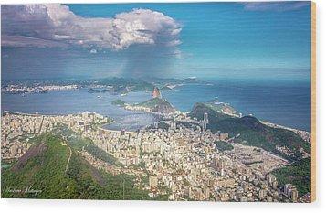 Rio De Janeiro Wood Print by Andrew Matwijec