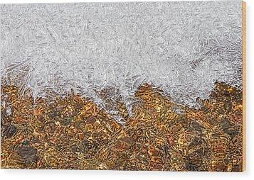 Rio Embudo Ice Wood Print