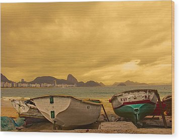 Wood Print featuring the photograph Rio Fishing Boats by Kim Wilson