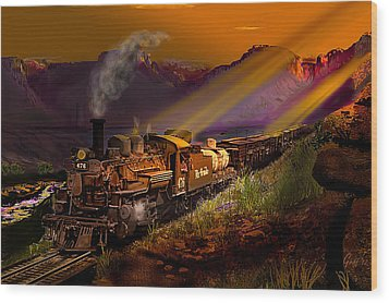 Rio Grande Early Morning Gold Wood Print by J Griff Griffin