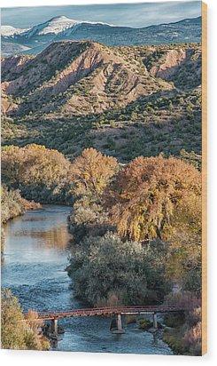 Wood Print featuring the photograph Rio Grande Embudo Vista by Britt Runyon