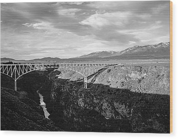 Wood Print featuring the photograph Rio Grande Gorge Birdge by Marilyn Hunt
