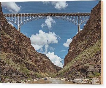 Wood Print featuring the photograph Rio Grande Gorge Bridge by Britt Runyon