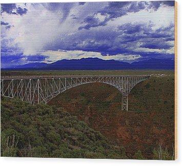 Rio Grande Gorge Bridge Wood Print by Neil McCarver