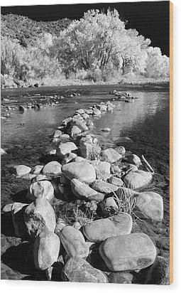 Wood Print featuring the photograph Rio Grande-infrared by Britt Runyon