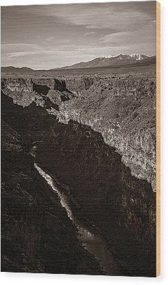 Wood Print featuring the photograph Rio Grande River Taos by Marilyn Hunt