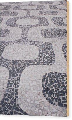 Rio Sidewalk Wood Print