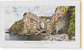 Riomaggiore Italy Wood Print by Carl Amoth