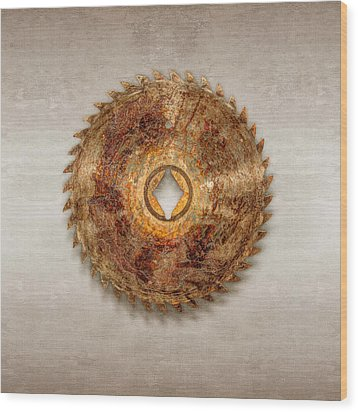 Rip Tooth Sawblade Wood Print