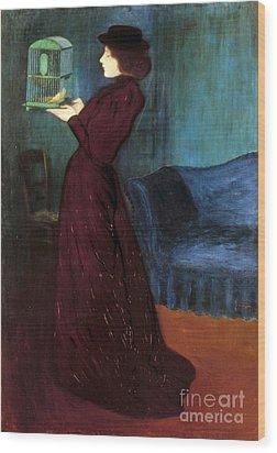 Ripple-ronai: Woman, 1892 Wood Print by Granger