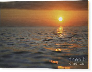Rippled Sunset Wood Print by Brandon Tabiolo - Printscapes