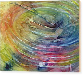 Wood Print featuring the painting Ripples by Allison Ashton