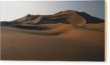 Ripples In The Sand Wood Print by Ralph A  Ledergerber-Photography