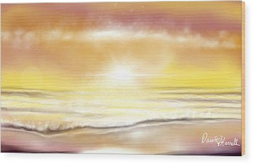 Wood Print featuring the painting Rise And Shine by Dawn Harrell