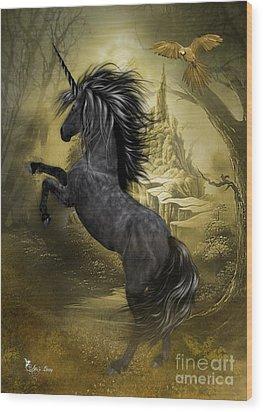 Rise Of The Unicorn Wood Print