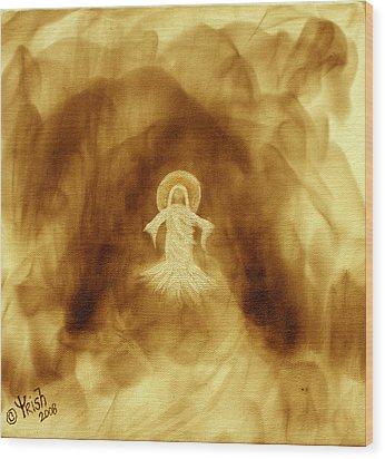 Risen - Burt Seina Wood Print by Trish Jenkins