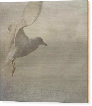 Wood Print featuring the photograph Rising Mist by Sally Banfill
