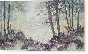 Rising On The Morning Air Wood Print by Carolyn Rosenberger