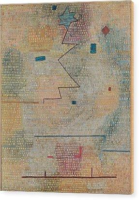 Rising Star  Wood Print by Paul Klee