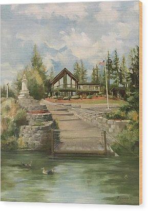 Rita's House Wood Print