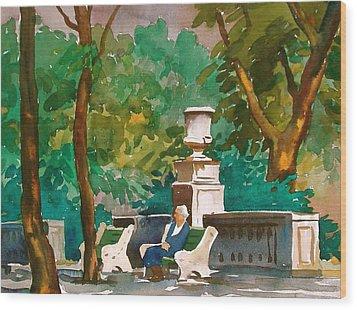Rittenhouse Square Wood Print by Faye Ziegler