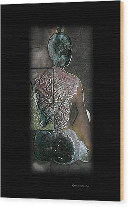 Ritual Transformation Wood Print by Bates Clark