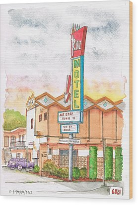 Ritz Motel In North Hollywood - California Wood Print