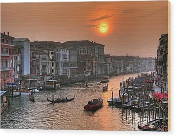 Riva Del Ferro. Venezia Wood Print by Juan Carlos Ferro Duque