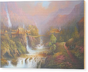 Rivendell Wood Print by Joe Gilronan