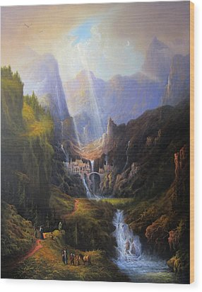 Rivendell. The Last Homely House.  Wood Print by Joe Gilronan