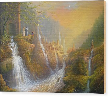 Rivendell Wisdom Of The Elves. Wood Print by Joe  Gilronan