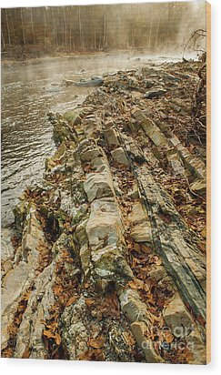 Wood Print featuring the photograph River Bank by Iris Greenwell